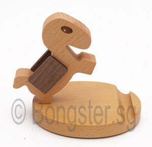Wooden smartphone tablet holder stand Horse