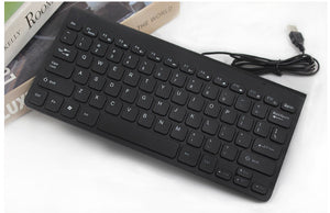 USB Compact Slim Wired Mini Keyboard for Laptop or PC Computer