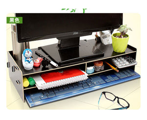 Wooden LCD/LED monitor stand cum table organiser Model B