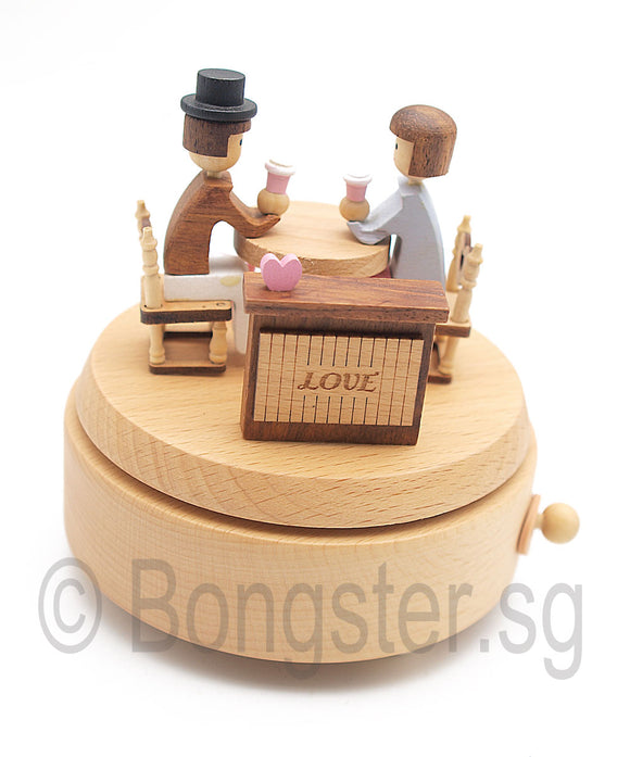 Wooden Music Box Love Story YP1539