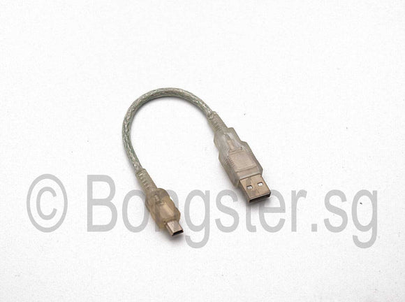 Mini USB Male to USB Type A Male cable 10cm