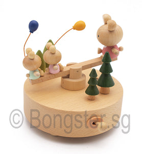 Wooden Music Box Seasaw YP1509