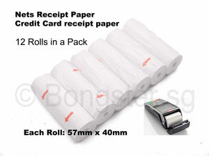 Thermal paper roll for NETS Credit card Receipt 57mm X 40mm
