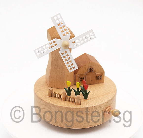 Wooden Music Box Windmill YP1534