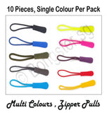 Colourful zipper Pulls for clothes and bags ( 10 pieces)