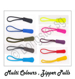 Colourful zipper Pulls for clothes and bags ( 4 pieces)