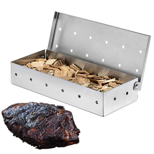 Smoker Box for BBQ Grill Wood Chips - Stainless Steel - The Home Retreat Store