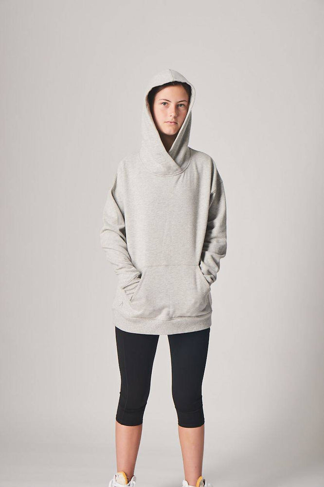 Oversized Super-Soft Hoodie - MARLE GREY
