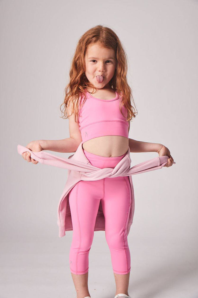 Velocity-Flex 3/4 Leggings - CANDY PINK