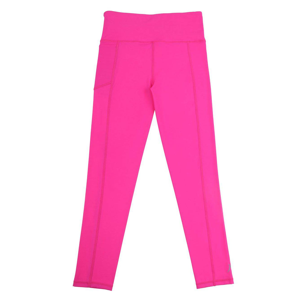 neon pink long school sport uniforms girls leggings boys tights compression tennis monkey bar shorts cheer shorts 3/4 length Teamwear customised