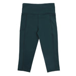 school uniform activewear 3/4 leggings forest green sport leggings