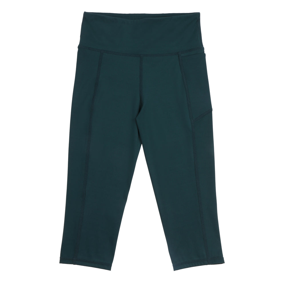 Velocity-Flex 3/4 Leggings - FOREST GREEN