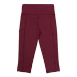 school uniform activewear 3/4 leggings maroon sport leggings