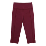 Velocity-Flex 3/4 Leggings - MAROON