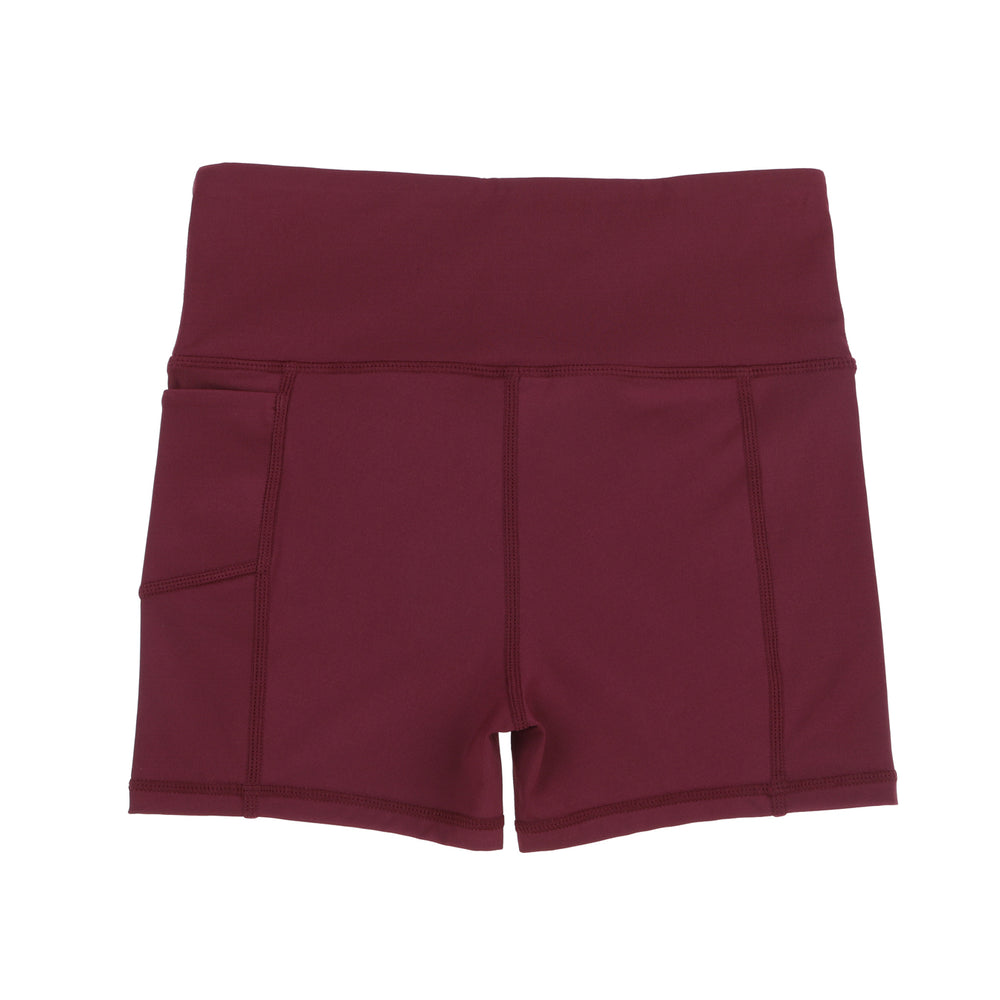 maroon school sport uniforms girls leggings boys tights compression tennis monkey bar shorts cheer shorts 3/4 length Teamwear customised