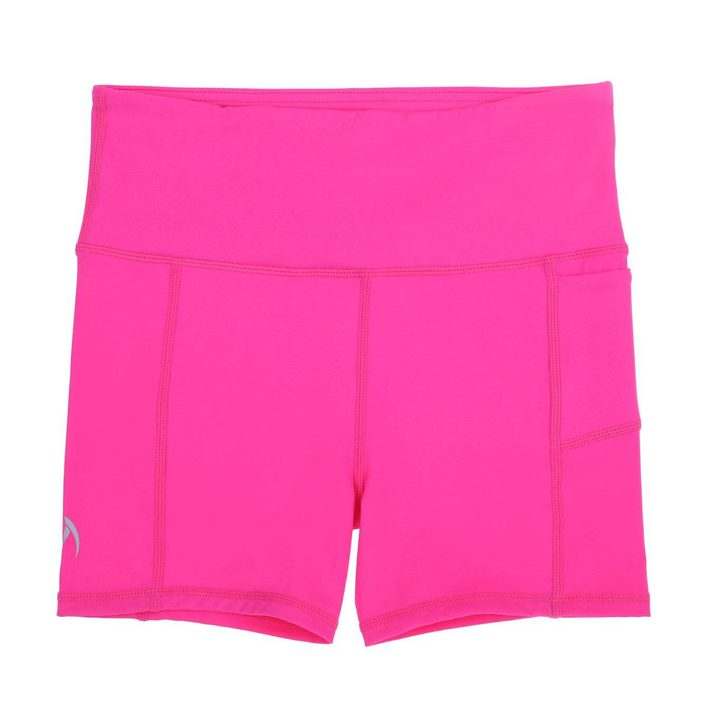 neon pink school sport uniforms girls leggings boys tights compression tennis monkey bar shorts cheer shorts 3/4 length Teamwear customised