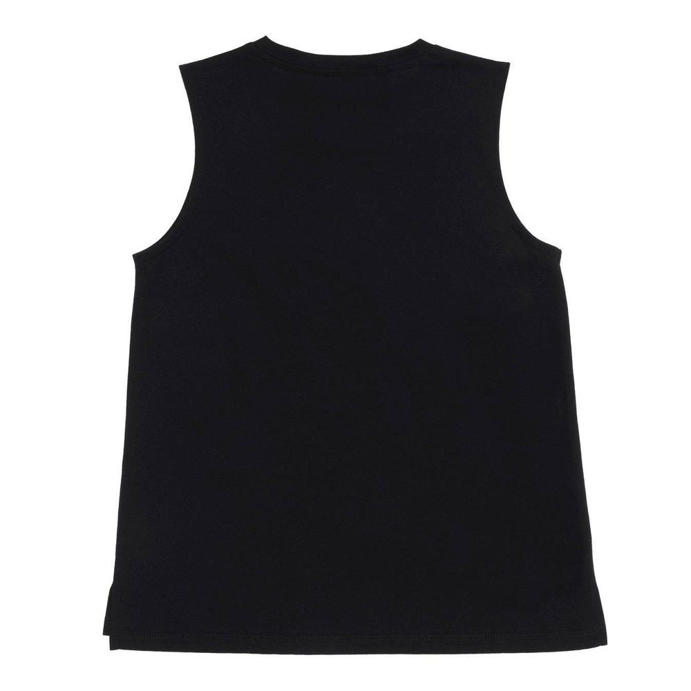 SASACTIVE Reflective print sleeveless tee - BLACK