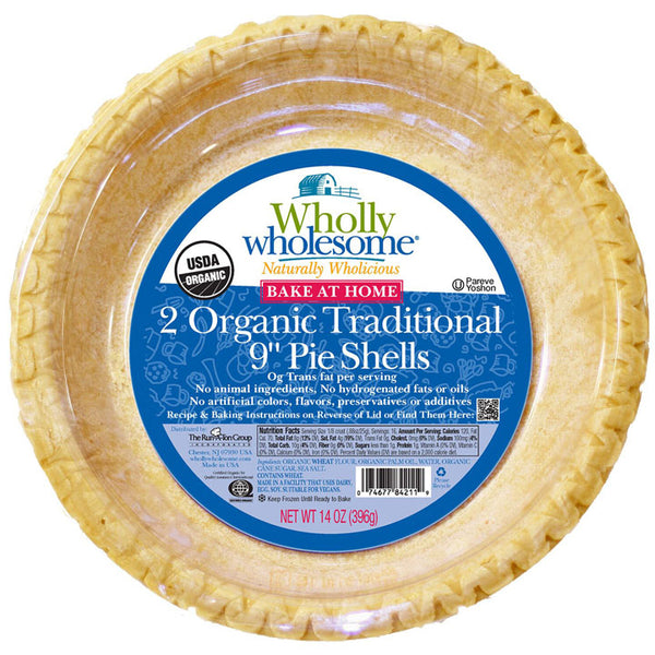 "Wholly Wholesome, Organic Traditional Pie Shells, 2 x 9"" (396g)"