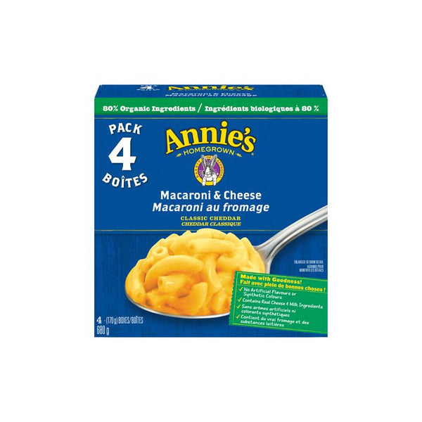 Annie's, Classic Cheddar - Macaroni & Cheese Value Pack (4 x 170g)