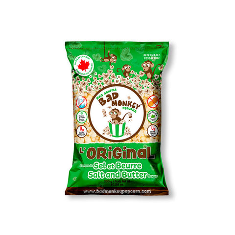 Bad Monkey, L'Original (Salt & Butter) Popcorn (300g)