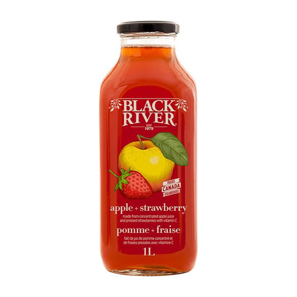 Black River, Organic Apple + Strawberry Juice (1L)