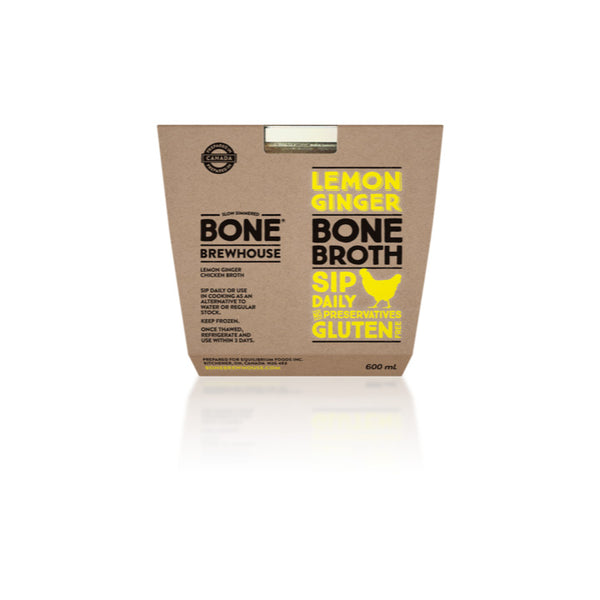 Bone Brewhouse, Lemon Ginger (Chicken) Bone Broth (600mL)