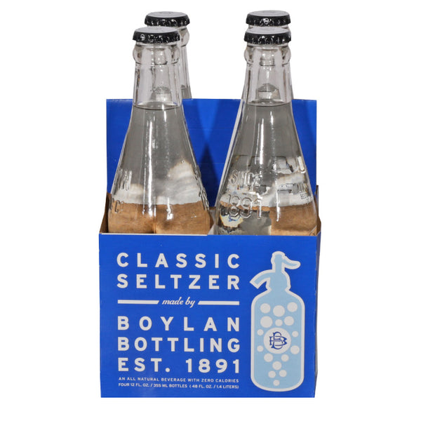 Boylan Bottling Co., Classic Seltzer (355mL x 4)