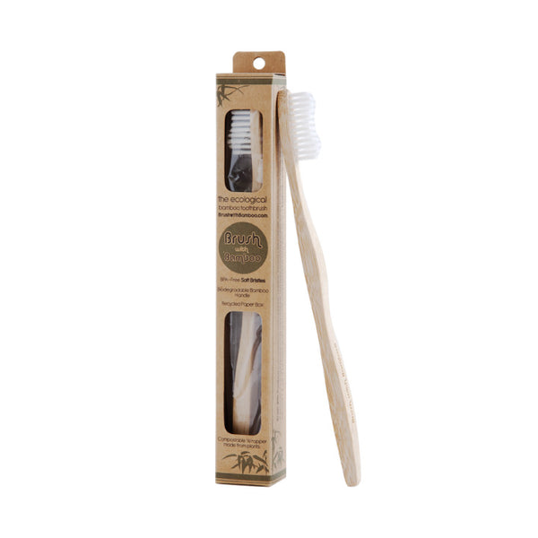 Brush with Bamboo, Plant Based Bamboo Toothbrush (Adult)