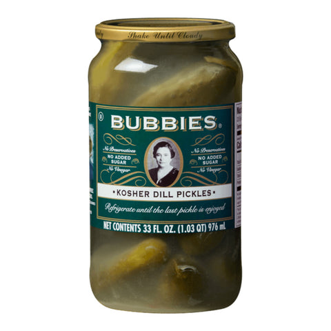 Bubbies, Kosher Dill Pickles (1L)