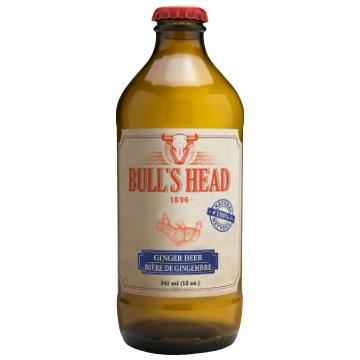 Bull's Head, Ginger Beer Soda (341mL)