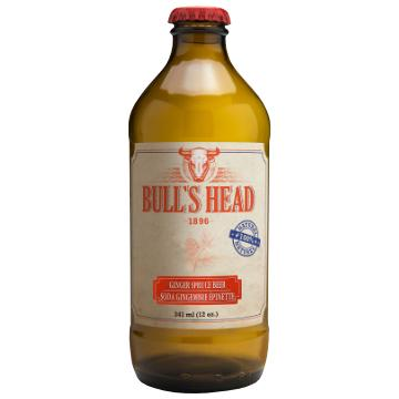 Bull's Head, Ginger Spruce Beer Soda (341mL)