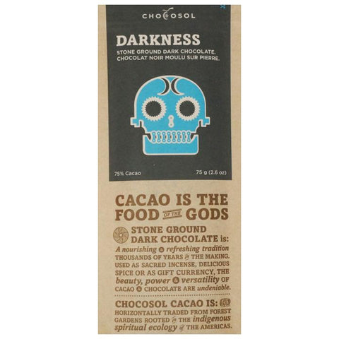 Chocosol, 'Darkness' Dark Chocolate (75g)