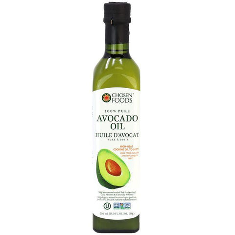 Chosen Foods, 100% Cold Pressed Pure Avocado Oil (500mL)