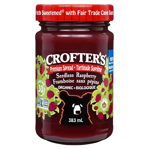Crofter's, Premium Spread | Organic Seedless Raspberry (383mL)
