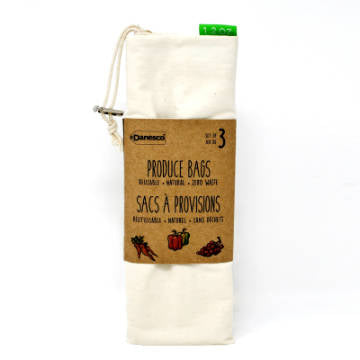 Danesco, Reusable Zero Waste Produce Bags | Standard (Set of 3)