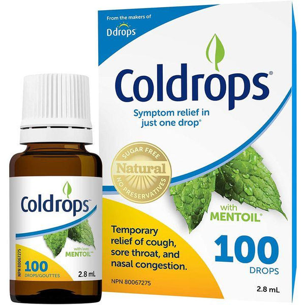 Ddrops, Coldrops | Cough, Sore Throat & Nasal Relief (100 Drops)