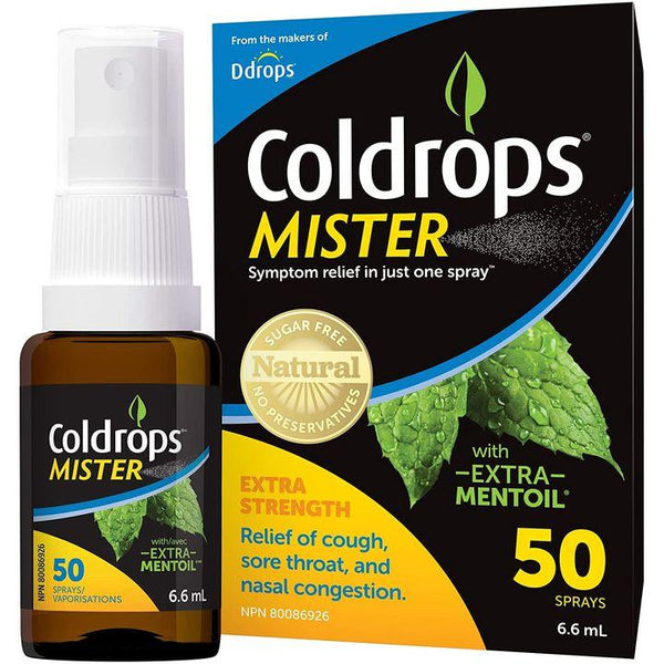 Ddrops, Coldrops Mister | Cough, Sore Throat & Nasal Relief (50 Sprays)