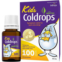 Ddrops, Kids Coldrops | Sore Throat & Nasal Relief (100 Drops)