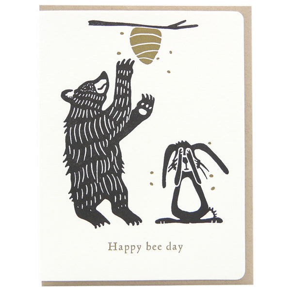 Dogwood Letterpress, Bee Day Greeting Card