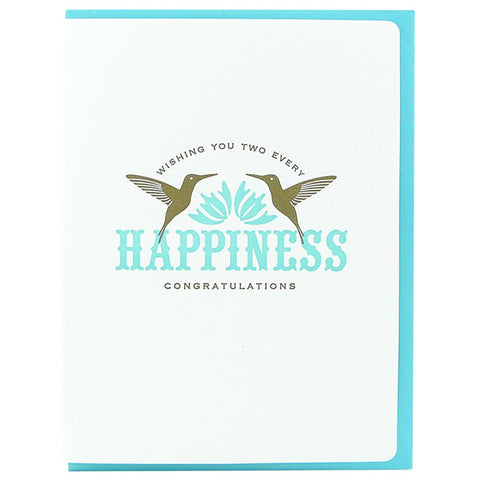Dogwood Letterpress, Every Happiness Greeting Card