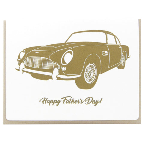 Dogwood Letterpress, Father's Day Aston Martin Greeting Card