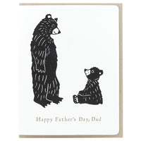 Dogwood Letterpress, Father's Day Bears Greeting Card