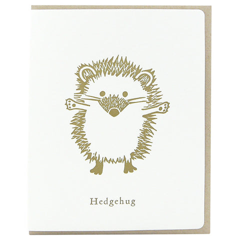 Dogwood Letterpress, Hedge Hug Greeting Card