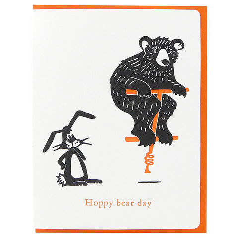 Dogwood Letterpress, Hoppy Bear Day Greeting Card