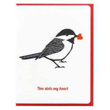 Dogwood Letterpress, You Stole My Heart Greeting Card