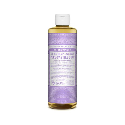 Dr. Bronner's, 18-in-1 Pure-Castile Liquid Soap – Hemp Lavender (473mL)