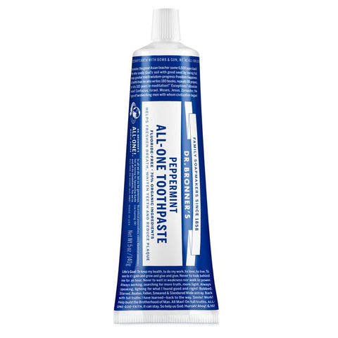 Dr. Bronner's, All-One Toothpaste (140g) | Peppermint