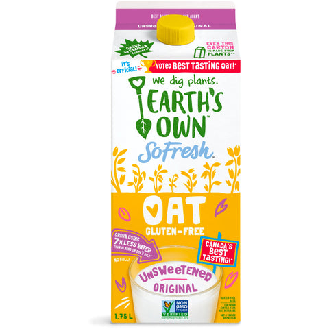 Earth's Own, SoFresh Unsweetened Original Oat Beverage (1.75L)