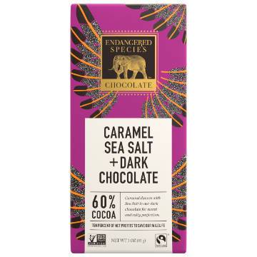 Endangered Species, Eagle: Dark Chocolate with Caramel & Sea Salt (85g) | 60% Cacao