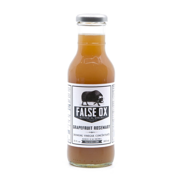 False OX, Grapefruit Rosmary Shrub (355 mL)